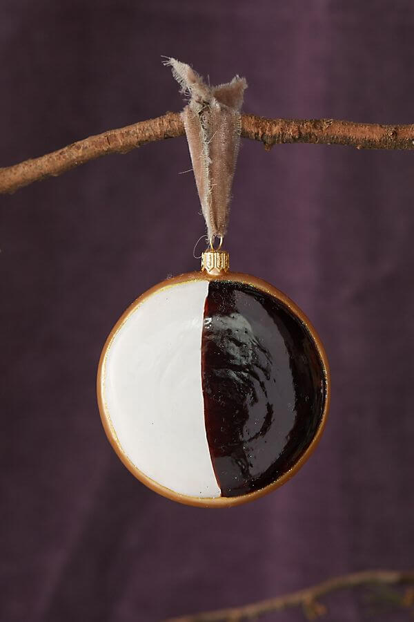 black and white cookie ornament