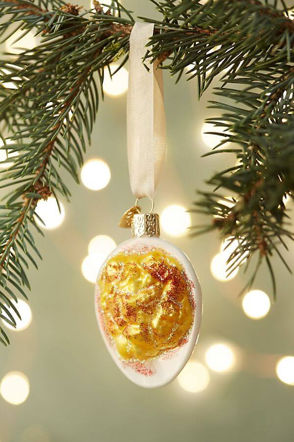 deviled egg ornament